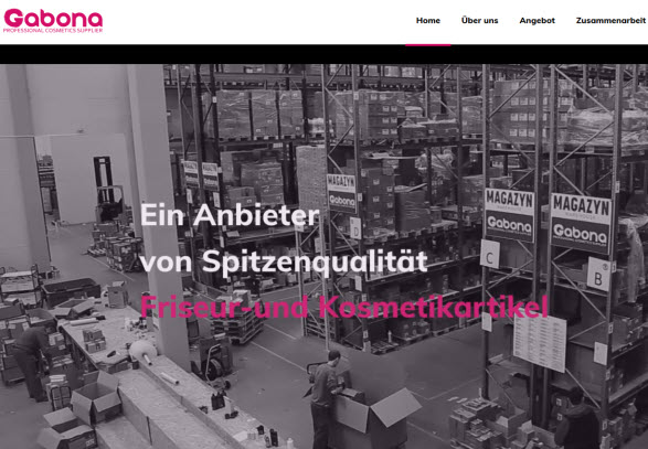 Website von GABONA Sp. z o.o. Sp. K.